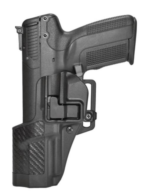 Blackhawk CQC Carbon Fiber Serpa Active Retention Holster Textured Black Left Hand For Smith & Wesson M&P 9mm/.40 Caliber