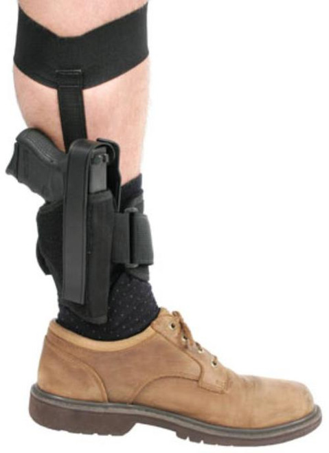 Blackhawk Ankle Holster 0 Black Knit Fabric