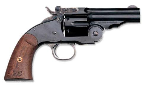 "Uberti 1875 No 3 2nd Model Top Break, .45 Colt, 5"", Blued, Walnut Grips"