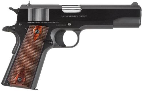 "Colt 1911 Government Series 1991, 45 ACP 5"" Barrel, Matte Blue, Rosewood Grips, 7 Rd Mag"