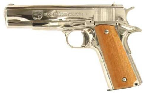 "Rock Island Armory 1911-A1 GI Standard .38 Super 5"" Nickel 9rd Mag - CA Compliant"
