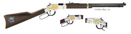 "Henry Golden Boy Truckers Edition Lever 22LR 20"" American Walnut Blued"