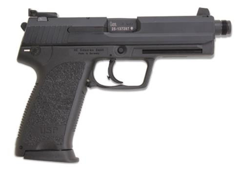 HK USP45 Tactical (V1) DA/SA, safety/decocking lever on left, two 10rd magazines