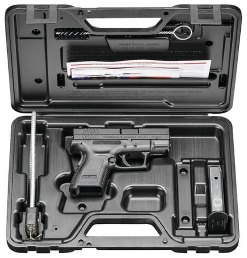 "Springfield XD Essential Pkg 3"" DAO 40S&W 3"" Barrel, Poly Grip/Frame Black, 10rd"