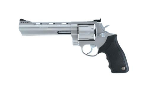 "Taurus 44 44 Rem Mag, 6.5"" Ported Barrel, Rubber Grip, Matte Stainless, 6rd"