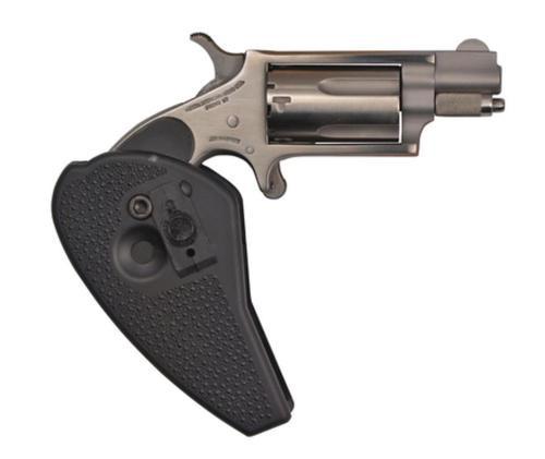 "NAA 22 Combo 22LR/22 Mag 1.12"" 5rd Black Holster Grip Matte SS"