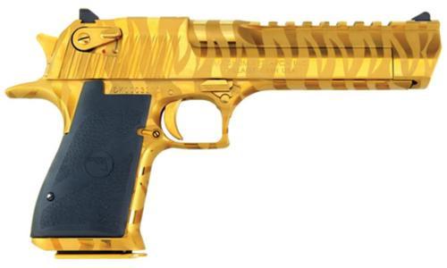 "Magnum Research Desert Eagle Mark XIX Pistol .44 Magnum 6"" Barrel Titanium Gold With Tiger Strips 7rd"