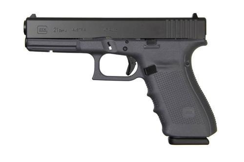 """Glock G21 Gen4, 45 ACP, 13rd, 4.6"""", Gray Frame, Black Slide"""