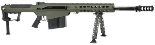"Barrett M107A1 .50 BMG, 20"" Chrome Lined Fluted Barrel, Black Muzzle Brake, Olive Drab Cerakoted Receiver, 10rd"