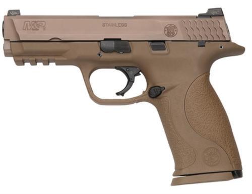Smith & Wesson S&W M&P9 VTAC Viking Tactics Pistol, 9mm, Dark Earth, Trijicon/Fiber Optic Sights