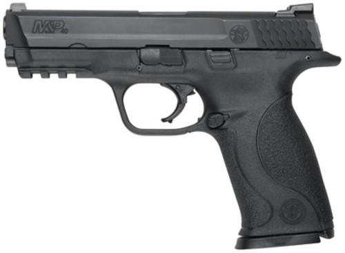 """Smith & Wesson, M&P, Full Size, 40 S&W, Striker Fired, 4.25"""" Barrel, Polymer Frame, Black, Low Profile Carry Sights, 10Rd, 2Magazines, Tac Rail, No Internal Lock, Magazine Disconnect"""