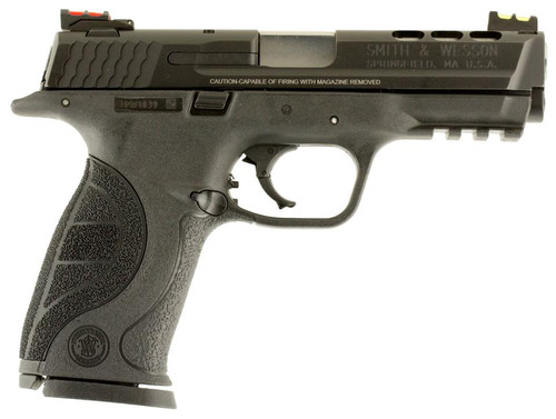 "Smith & Wesson M&P 9 Perfromance Center 4.25"" Ported Barrel H-Viz Fiber Optic Sights 17rd Mag"