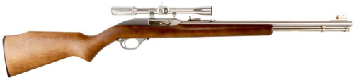"Marlin 60 W/Scope 22LR 19"" Barrel Hardwood Stock SS Finish"