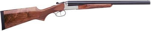 Stoeger Coach Gun SxS, AA-Grade Gloss Walnut, Blue/Stainless Receiver 12 Ga, 20