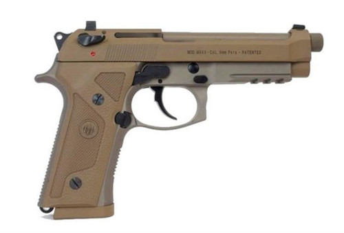 "Beretta M9A3 9mm, 5.2"" Threaded Barrel, Alloy Frame, Flat Dark Earth, Tritium Night Sights, Ambidextrous Safety, 3 Magazines, 17 Rounds"
