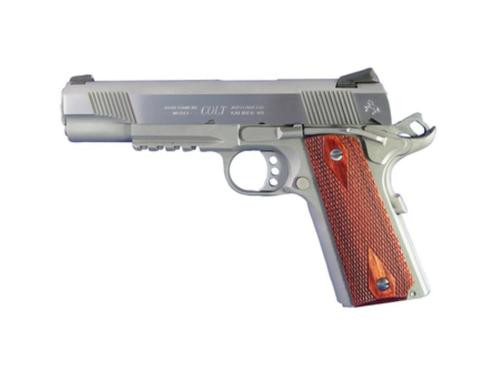 Colt 1911 'Rail Gun', 45 ACP, SS Finish, Full Size