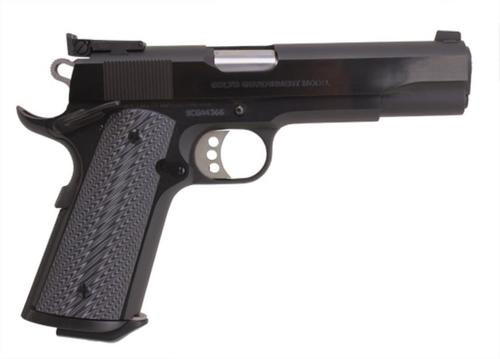 "Colt Mfg 1911 Special Combat Government Single 45 Automatic Colt Pistol, 5"", Black/Silver Grips, Blued"