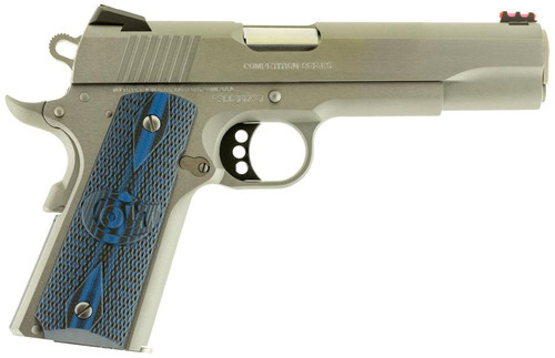 "Colt Competition Govt 1911 38 Super 5"" Natl Match Barrel G10 Grips 8rd Mag"