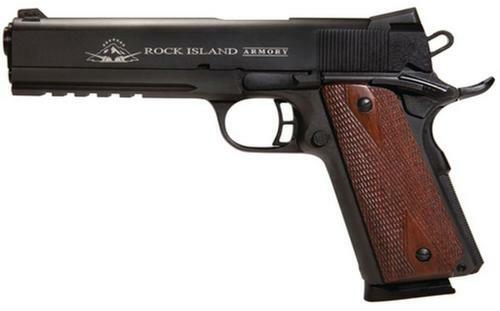 "Rock Island Armory 2011 Tactical 1911, VZ Grip, 45 ACP 5"", Tru-Glo High Vis Front Sight, Parkerized, 8 Round"