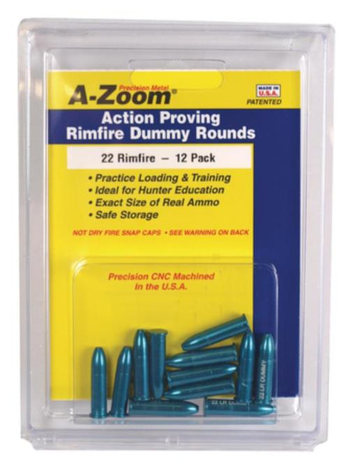 A-Zoom 22LR Action Proving Training Rounds, 6/Pack