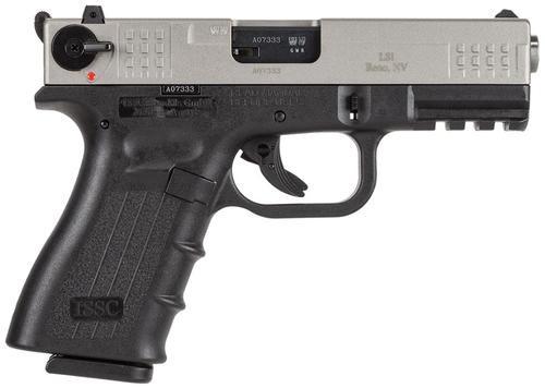 """ISSC M22 Standard 22LR 4"""" Barrel, Black Poly Frame/Brushed Chrome Slide, 10rd"""