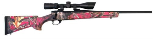 """Howa Youth Lightweight Camo Package .223 Remington 20"""" Blued Barrel Synthetic Stock Foxy Woods Camouflage Finish With Nighteater 9-3x42mm Riflescope 5rd"""