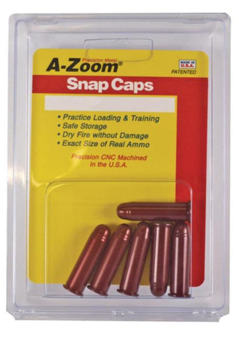 A-Zoom Snap Caps Handgun Rounds, 44 Remington Magnum, Aluminum, 6rd/Box