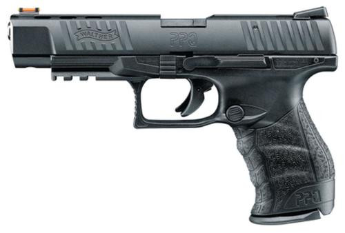 "Walther, PPQ M2, Striker Fired, Full Size, 22 LR, 5"" Barrel, Polymer Frame, Black, Fiber Optic Front Sight, Fixed Rear, 12Rd, 1 Magazine"