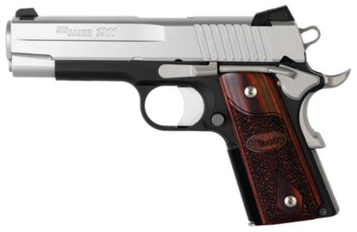 Sig 1911 45 ACP 4.2In C3 2-Tone SAO Contrast Sights Rosewood Grip (2) 7RD Steel MAG