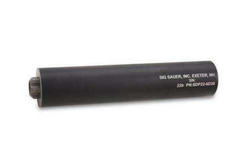 Sig SDP22 Rimfire Suppressor, .22 LR, Aluminum & SS