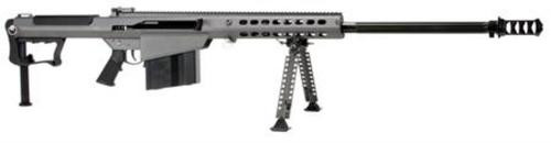"Barrett M107A1 .50 BMG, 29"" Chrome Lined Fluted Barrel, Black Muzzle Brake, Gray Cerakoted Receiver, 10rd"