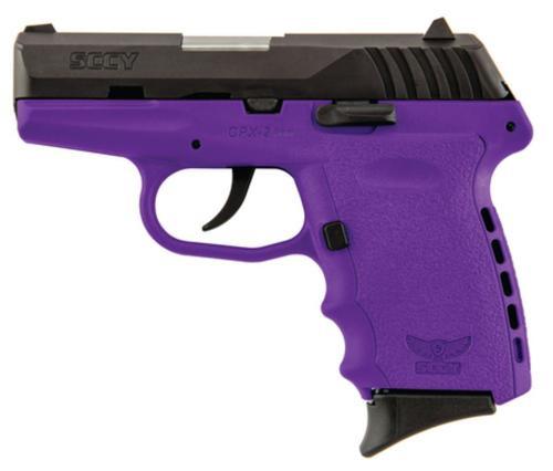 "SCCY CPX-2, O Manual Safety 9mm 3.1"" Barrel Hard Nitride Slide Finish Purple Frame 10rd Mag"