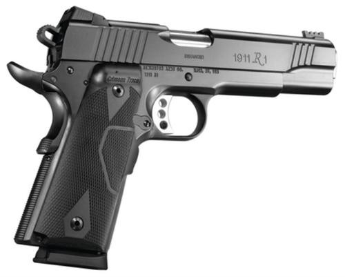 Remington 1911 R1 45 ACP Enhanced, Crimson Trace Laser Grip 5 Barrel Satin Black Oxide Finish 8 Round Mag