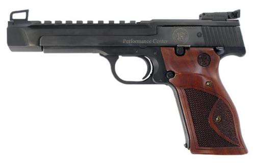 """Smith & Wesson 41 22LR, Performance Center 5.5"""", Wood Grips, Blued 10rd Mag"""