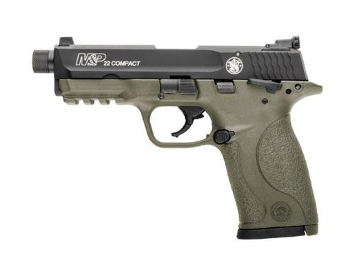"Smith & Wesson M&P Compact 22LR 3.5"" Threaded Barrel Flat Dark Earth Frame 10rd Mag"