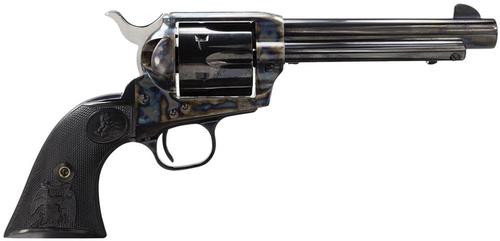 "Colt Single Action Army .45 Colt, 5.5"" Barrel, Case Hardened, Blue Finish, Black Grips, 6rd"