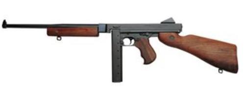 "Thompson M1-C Lightweight 45 ACP 16"" Barrel Walnut Stock Horizontal Foregrip 30 Rd Stick Mag Only"