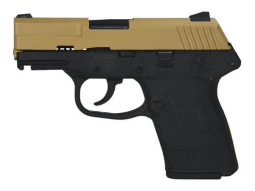 KelTec PF-9 9mm 3.1 Inch Barrel Cerakote Tan Slide Black Grip/Frame Double Action Only 7 Round