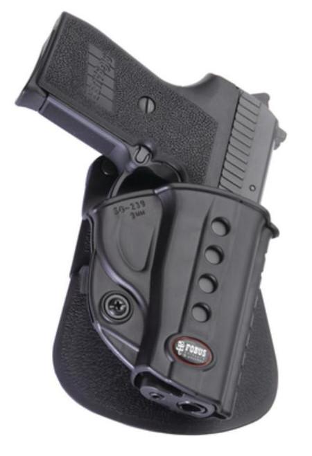 Fobus Evolution 2 Paddle Sig 239, 9mm/Beretta Cheetah, Black, Right Hand