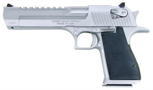 "Magnum Research Desert Eagle Mk XIX 50AE 6"" Barrel, Black Synthetic Brushed Chrome, 7rd"