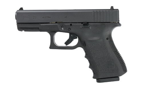 "Glock 23 .40 Smith & Wesson 4"" Barrel Black Finish Fixed Sights Refurbished 13rd"