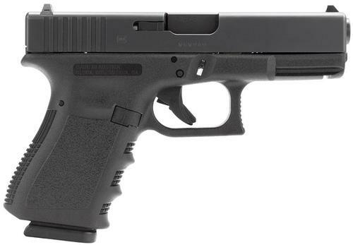 "Glock G19 9mm, 4.01"" Barrel, FS Grip, Black, 15rd"