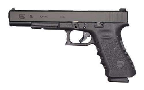 """Glock 17L Striker Fired, 9mm, 6.02"""", Polymer, Black, 17Rd, Adjustable Sights"""
