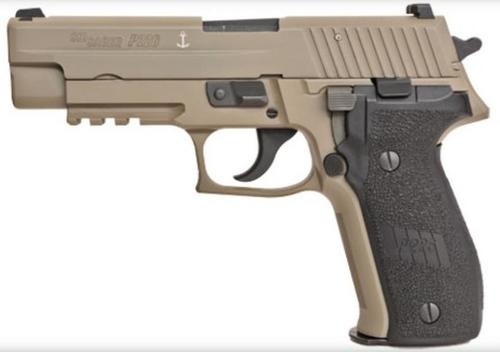 "Sig P226 MK-25 Desert 9mm 4.4"" Barrel Siglite Night Sights Flat Dark Earth Black Grips 15rd Mag"