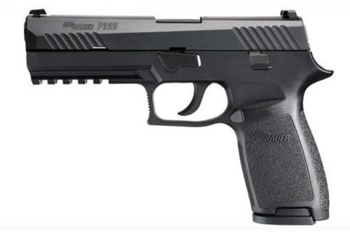 Sig P320 9mm 4.7In Nitron Black Striker Siglite Modular Polymer Grip (2) 17Rd Steel MAG Rail