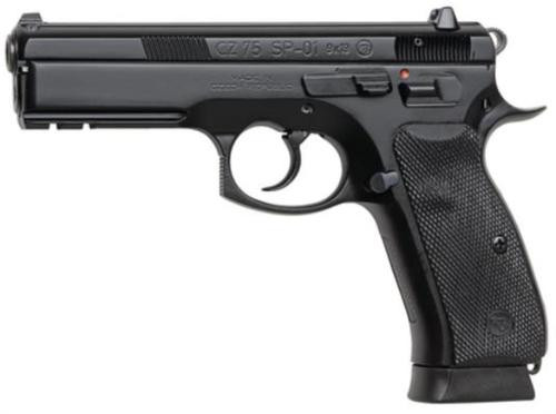 CZ 75 SP-01 cal. 9mm light rail safety black polycoat - 10rd magazines