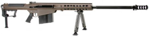 "Barrett M107A1 .50 BMG, 29"" Chrome Lined Fluted Barrel, Muzzle Brake, Brown Cerakoted 10rd Mag"