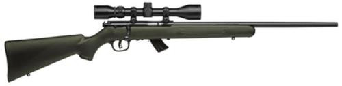 "Savage MKII FXP 22LR, 21"" Barrel, Bushnell 3-9x40 Scope Incl, Blued Finish, Olive Drab Stock, 10rd"