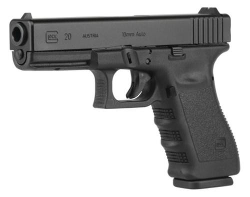 "Glock G20 Gen4 10mm Auto 4.6"" Barrel Black Fixed Sights 10rd Mag"