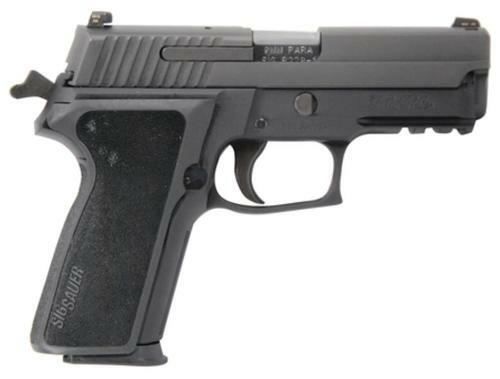 Sig P229 9MM 3.9In Nitron Black Da/Sa Siglite E2 Grip (2) 10Rd Steel MAG MA Compliant